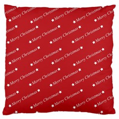 Christmas Paper Background Greeting Large Flano Cushion Case (Two Sides)