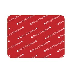 Christmas Paper Background Greeting Double Sided Flano Blanket (Mini)