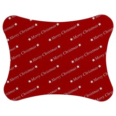 Christmas Paper Background Greeting Jigsaw Puzzle Photo Stand (Bow)