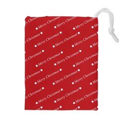 Christmas Paper Background Greeting Drawstring Pouches (Extra Large)