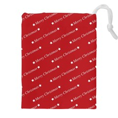 Christmas Paper Background Greeting Drawstring Pouches (XXL)