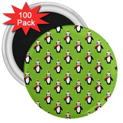 Christmas Penguin Penguins Cute 3  Magnets (100 pack)