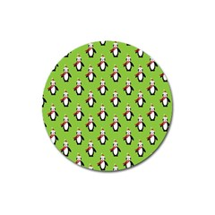 Christmas Penguin Penguins Cute Magnet 3  (Round)