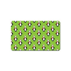 Christmas Penguin Penguins Cute Magnet (Name Card)