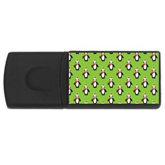 Christmas Penguin Penguins Cute USB Flash Drive Rectangular (1 GB)