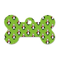 Christmas Penguin Penguins Cute Dog Tag Bone (One Side)