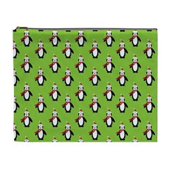 Christmas Penguin Penguins Cute Cosmetic Bag (XL)