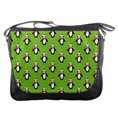 Christmas Penguin Penguins Cute Messenger Bags