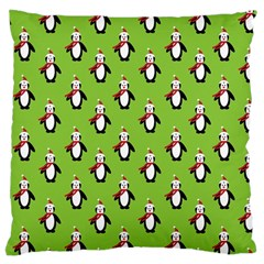 Christmas Penguin Penguins Cute Large Cushion Case (two Sides)