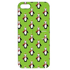 Christmas Penguin Penguins Cute Apple iPhone 5 Hardshell Case with Stand