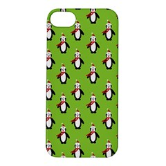 Christmas Penguin Penguins Cute Apple iPhone 5S/ SE Hardshell Case