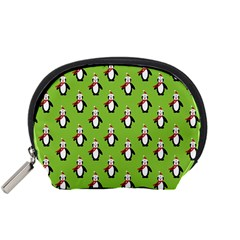 Christmas Penguin Penguins Cute Accessory Pouches (Small)