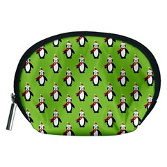 Christmas Penguin Penguins Cute Accessory Pouches (medium)