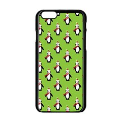 Christmas Penguin Penguins Cute Apple iPhone 6/6S Black Enamel Case