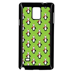 Christmas Penguin Penguins Cute Samsung Galaxy Note 4 Case (Black)