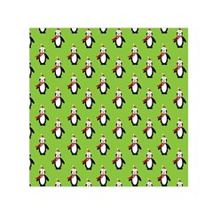 Christmas Penguin Penguins Cute Small Satin Scarf (Square)