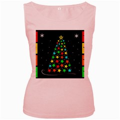 Christmas Time Women s Pink Tank Top