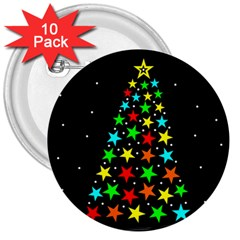 Christmas Time 3  Buttons (10 Pack)