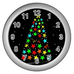 Christmas Time Wall Clocks (Silver)