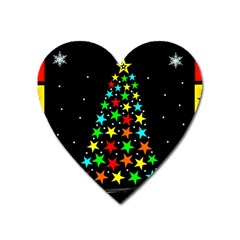 Christmas Time Heart Magnet