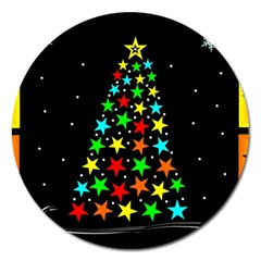 Christmas Time Magnet 5  (Round)