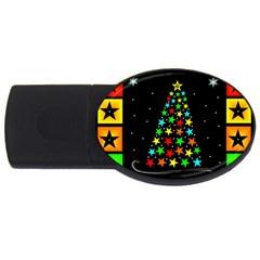 Christmas Time USB Flash Drive Oval (1 GB)