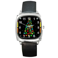 Christmas Time Square Metal Watch