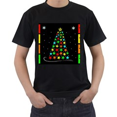 Christmas Time Men s T-Shirt (Black) (Two Sided)