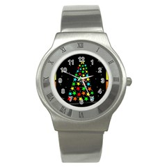 Christmas Time Stainless Steel Watch