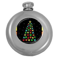 Christmas Time Round Hip Flask (5 oz)