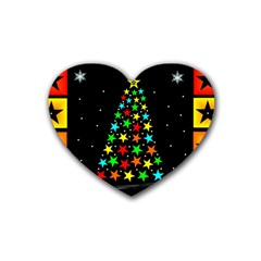 Christmas Time Rubber Coaster (Heart)
