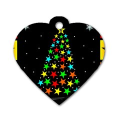 Christmas Time Dog Tag Heart (Two Sides)