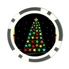 Christmas Time Poker Chip Card Guard