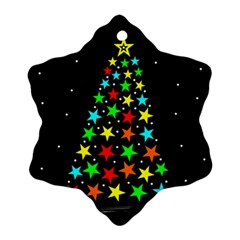 Christmas Time Snowflake Ornament (Two Sides)