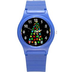 Christmas Time Round Plastic Sport Watch (S)