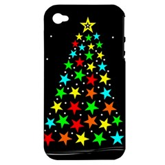 Christmas Time Apple iPhone 4/4S Hardshell Case (PC+Silicone)