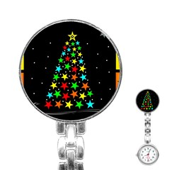 Christmas Time Stainless Steel Nurses Watch
