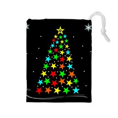 Christmas Time Drawstring Pouches (Large)