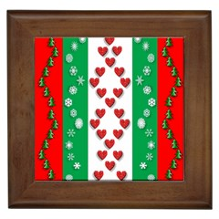 Christmas Snowflakes Christmas Trees Framed Tiles