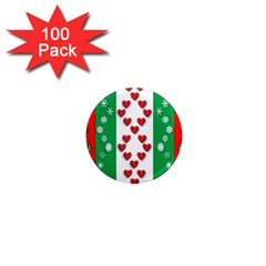 Christmas Snowflakes Christmas Trees 1  Mini Magnets (100 pack)