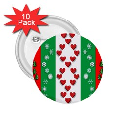 Christmas Snowflakes Christmas Trees 2.25  Buttons (10 pack)