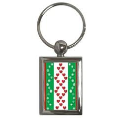 Christmas Snowflakes Christmas Trees Key Chains (Rectangle)