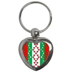 Christmas Snowflakes Christmas Trees Key Chains (Heart)
