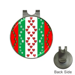 Christmas Snowflakes Christmas Trees Hat Clips with Golf Markers