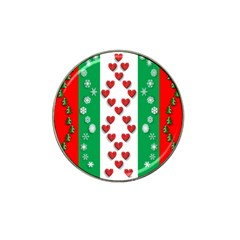 Christmas Snowflakes Christmas Trees Hat Clip Ball Marker (10 pack)