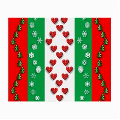 Christmas Snowflakes Christmas Trees Small Glasses Cloth
