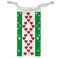 Christmas Snowflakes Christmas Trees Jewelry Bag