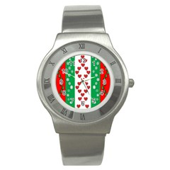 Christmas Snowflakes Christmas Trees Stainless Steel Watch