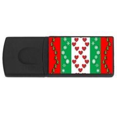 Christmas Snowflakes Christmas Trees USB Flash Drive Rectangular (4 GB)