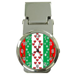 Christmas Snowflakes Christmas Trees Money Clip Watches
